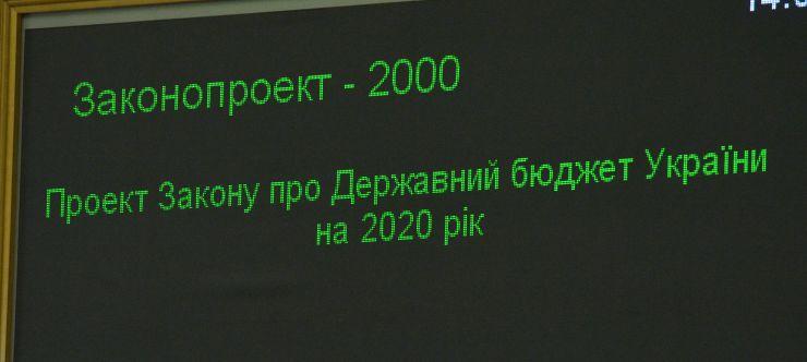 Пленарне засідання Верховної Ради України. Прийнято Державний бюджет України на 2020 рік.