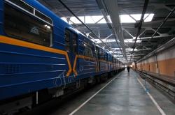 За участю Київського міського голови Леоніда Черновецького відбувся запуск нового потяга метро Сирецько-Печерської лінії.