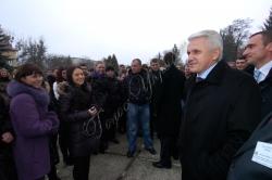 Голова Верховної Ради України Володимир Литвин відвідав з робочою поїздкою Львівську область.