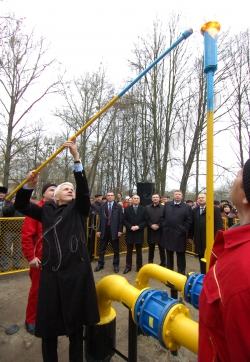 Голова Верховної Ради України Володимир Литвин відвідав з робочою поїздкою Рівненську область.