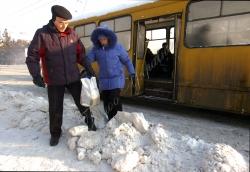 Київ, снігові замети на Шулявці.