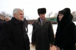 Голова Верховної Ради України Володимир Литвин у місті Богуслав Київської області взяв участь у відкритті товарної залізничної станції.