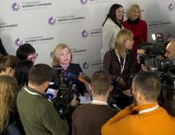 Перший заступник Голови Верховної Ради України Ірина Геращенко взяла участь у дискусійній платформі «Роль жінки в суспільно-політичному житті країни: погляд зсередини та погляд ззовні».