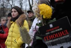 Заходи з нагоди Дня пам'яті жертв Голодомору біля Національного меморіалу жертв Голодомору.