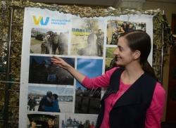 Відкриття фотоекспозиції у Верховній Раді України про діяльність громадської організації «Волонтери України».