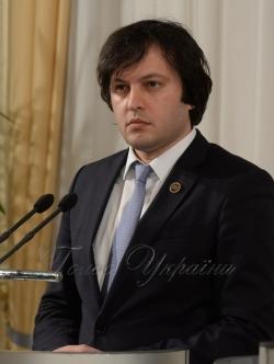 Брифінг Голови Верховної Ради України Андрія Парубія з Головою Парламенту Грузії Іраклієм Кобахідзе.