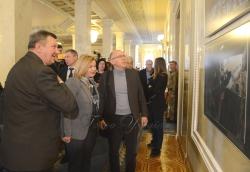 Відкриття виставки репортера газети «Голос України» Олександра Клименка «Філософія війни».
