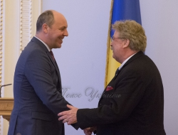 Зустріч Голови Верховної Ради України Андрія Парубія з членом Європейського Парламенту Ельмаром Броком.