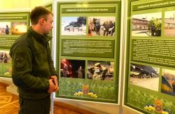 У Верховній Раді розпочала роботу тематична експозиція до святкування Дня Національної гвардії України.