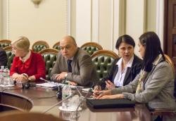 Круглий стол у ВР на тему «Законопроект «Про національну безпеку України» - парламентський діалог за участі Голови Верховної Ради України Андрія Парубія.