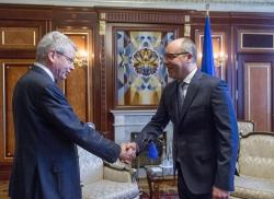 Зустріч Голови Верховної Ради України Андрія Парубія з Секретарем Європейської комісії «За демократію через право» Томасом Маркертом.