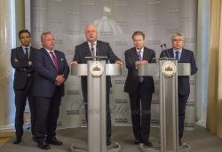 Брифінг Президента ПА ОБСЄ Георгія Церетелі та членів Парламентської асамблеї щодо візиту в Україну та, зокрема, на Донбас.