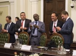 Зустріч Голови Верховної Ради України А. Парубія з делегацією Ради директорів Групи Світового Банку.