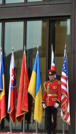 Церемонія вітання Президента Грузії Георгія Маргвелашвілі Глав іноземних делегацій.
