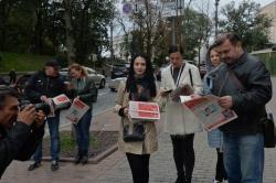 Акція НСЖУ біля Кабміну проти ускладнень роботи з боку Укрпошти