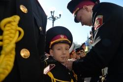 Урочистості присвячені 10 - річному ювілею урочистої церемонії вручення погонів учням кадетських класів.