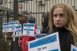 Біля Посольства РФ у Києві відбулася акція активістів ГО КримSOS: