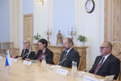 Голова Верховної Ради України Андрій Парубій провів зустріч з Головою Національної Ради Парламенту Республіки Словенія Алоїзом Ковшцою.