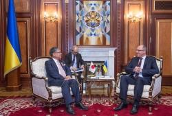 Зустріч Голови Верховної Ради України Андрія Парубія з Надзвичайним і Повноважним Послом Японії в Україні Шігекі Сумі