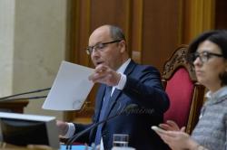 Андрій Парубій під час закриття дев'ятої сесії ВР України.
