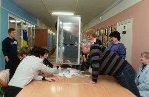 Підрахунок голосів виборча дільниця 800133