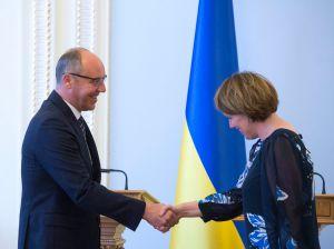 Андрей Парубий встретился с чрезвычайным и Полномочным послом Джудит Гоф