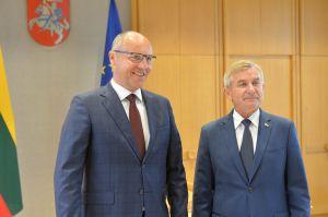Голова ВР України Андрій Парубій зустрівся зі спікером Сейму Литовської Республіки Вікторасом Пранцкєтісом.