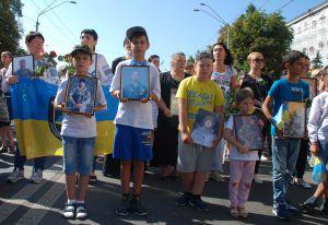 Марш захисників України до Дня Незалежності України.