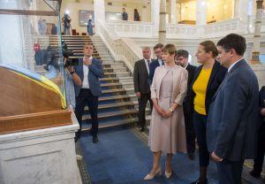 Голова Верховної Ради України Дмитро Разумков провів зустріч з Президентом Естонської Республіки Керсті Кальюлайд