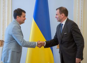 Дмитрий Разумков встретился с вице-президентом Европейского банка реконструкции и развития (ЕБРР) Аланом Пию