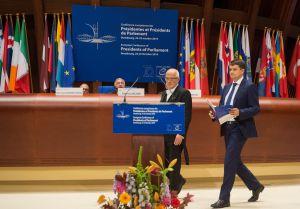 Виступ Голови Верховної Ради України Дмитра Разумкова під час Європейської конференції голів парламентів держав-членів  Ради Європи