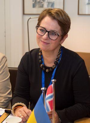 Зустріч Голови Верховної Ради України Дмитра Разумкова з Головою Парламенту Норвегії з пані Тоне Вілхелмсен Трьоен