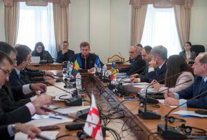 12-а сесія Парламентської асамблеї Організації за демократію та економічний розвиток – ГУАМ продовжує свою роботу у Верховній Раді України.   Засідання Комітета ПА ГУАМ з торгово-економічних питань