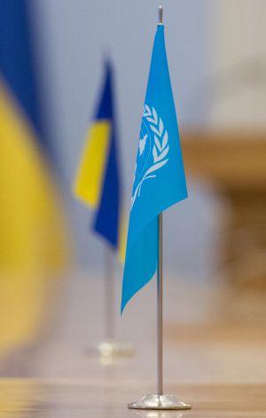 Голова Верховної Ради України Дмитро Разумков зустрівся з заступницею генерального секретаря ООН з політичних та миротворчих питань Розмарі Дікарло.