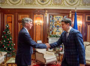 Зустріч Голови Верховної Ради Дмитра Разумкова з тимчасовим повіреним у справах США в Україні Вільямом Тейлором