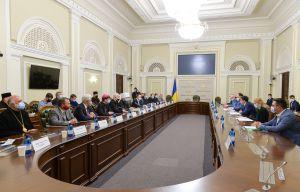 Голова Верховної Ради України Дмитро Разумков провів зустріч з представниками Всеукраїнської Ради Церков і релігійних організацій.