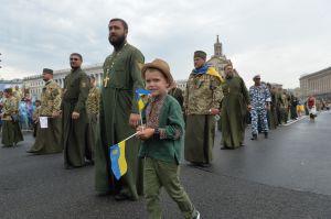 У Києві з нагоди Дня Незалежності України пройшов Марш захисників України.