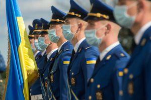 Урочисті заходи з нагоди Дня захисника України на площі Конституції перед будівлею Верховної Ради України