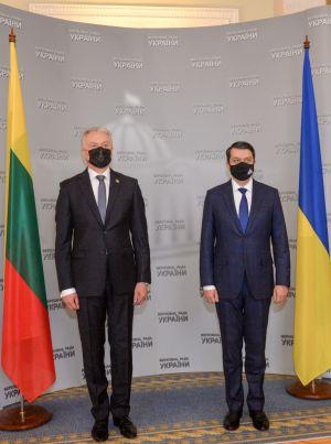 Встреча Председателя Верховной Рады Украины Дмитрия Разумкова с Президентом Литвы Гитанасом Науседой