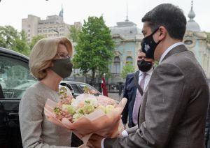 Председатель Верховной Рады Украины Дмитрий Разумков встретился с председателем Сейма Латвийской Республики Инара Мурниеце.
