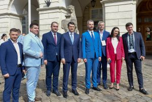 Председатель Верховной Рады Украины Дмитрий Разумков принял участие в работе Первого Всеукраинского форума судебных экспертов, Львов.