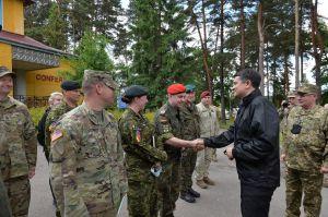 Председатель Верховной Рады Украины Дмитрий Разумкова посетил Международный центр миротворчества и безопасности Национальной академии сухопутных войск имени гетмана Петра Сагайдачного