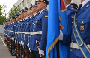 Председатель Верховной Рады Украины Дмитрий Разумков посетил главное управление Национальной Гвардии Украины и вручил награды нацгвардейцам по случаю дня Конституции Украины