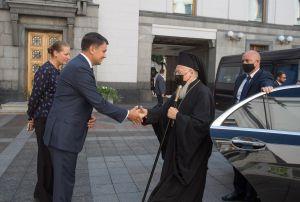 Председатель Верховной Рады Украины Дмитрий Разумков встретился с Вселенским Патриархом Варфоломеем