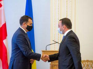 Встреча Председателя Верховной Рады Украины Дмитрия Разумкова с Премьер-министром Грузии Ираклием Гарибашвили