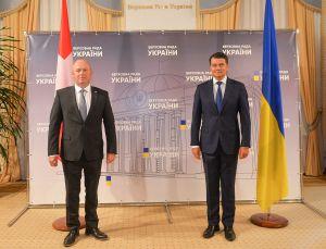 Председатель Верховной Рады Украины Дмитрий Разумков провел встречу с Председателем Национального Совета Федерального Собрания Швейцарской Конфедерации Андреасом Эби